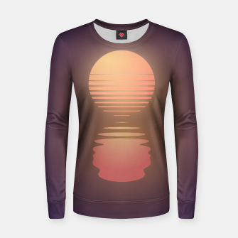 Thumbnail image of The Suns of Time - Retrowave Woman cotton sweater, Live Heroes