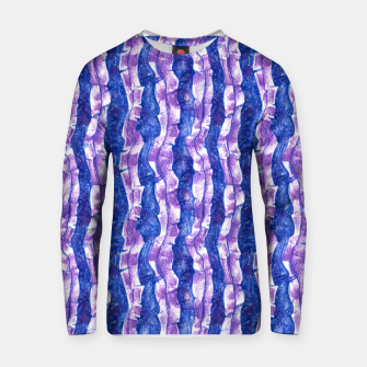 Thumbnail image of Seaweed Stripe (Blue, Violet & White)  Cotton sweater, Live Heroes