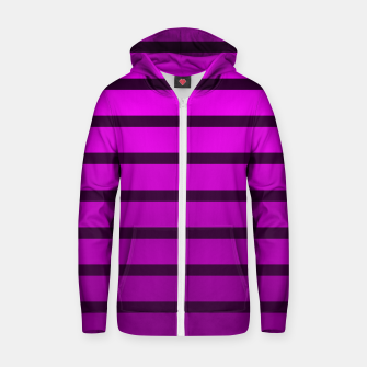 Thumbnail image of Shades of Purple Cotton zip up hoodie, Live Heroes