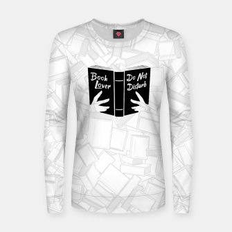Thumbnail image of Book Lover, Do Not Disturb II Woman cotton sweater, Live Heroes