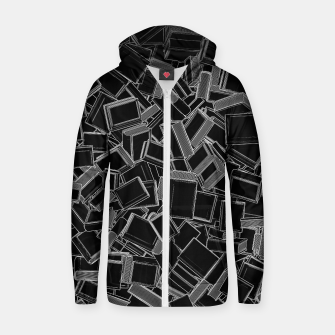 The Book Pile Cotton zip up hoodie thumbnail image