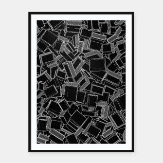 The Book Pile Framed poster thumbnail image