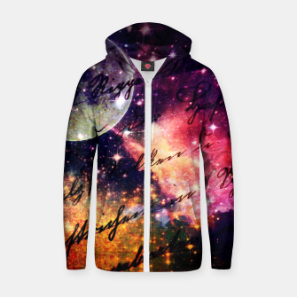 Thumbnail image of Letter from outer space Cotton zip up hoodie, Live Heroes