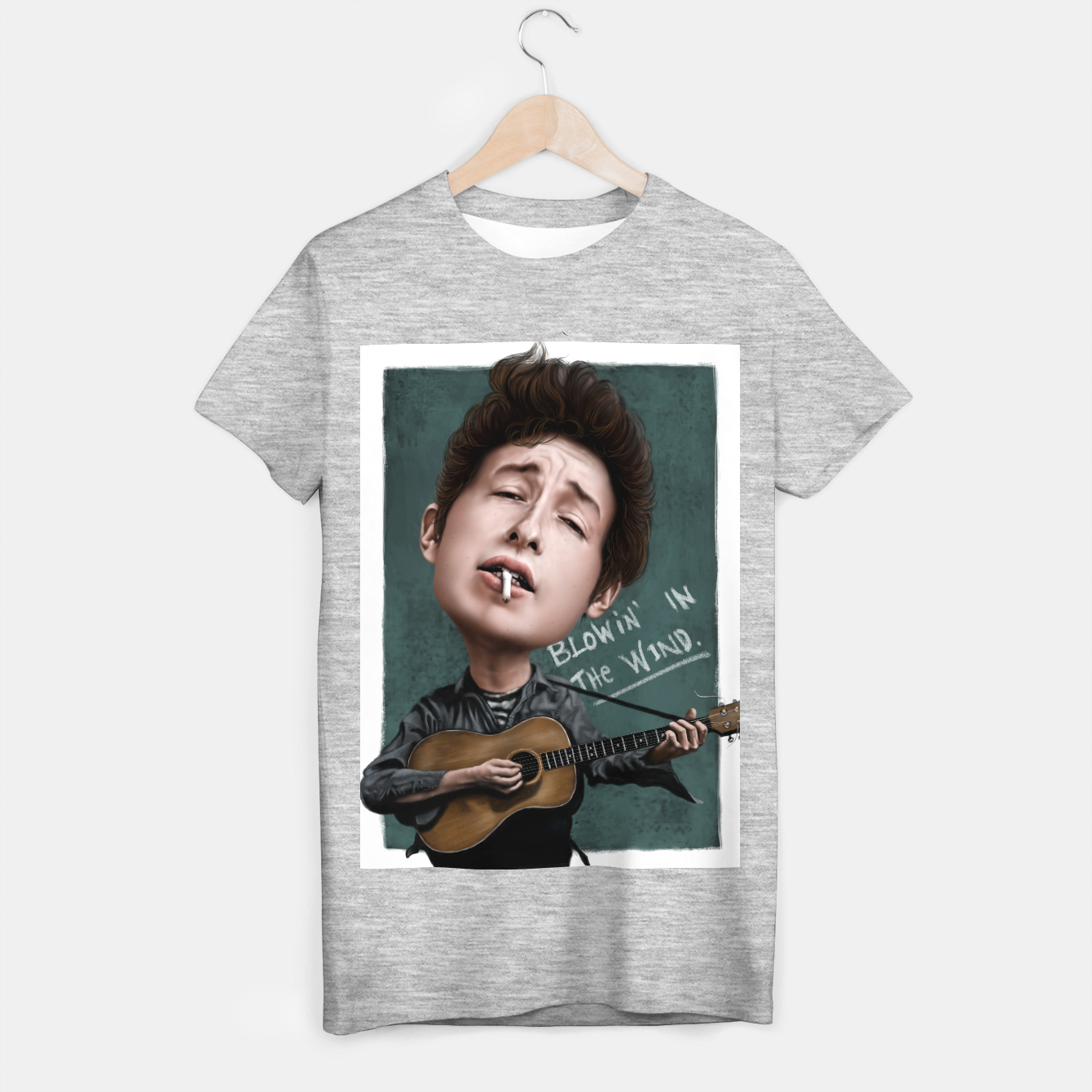 Image of Young Bob Dylan T-shirt regular - Live Heroes