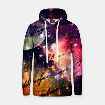 Thumbnail image of Letter from outer space Cotton hoodie, Live Heroes