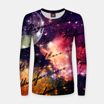 Thumbnail image of Letter from outer space Woman cotton sweater, Live Heroes