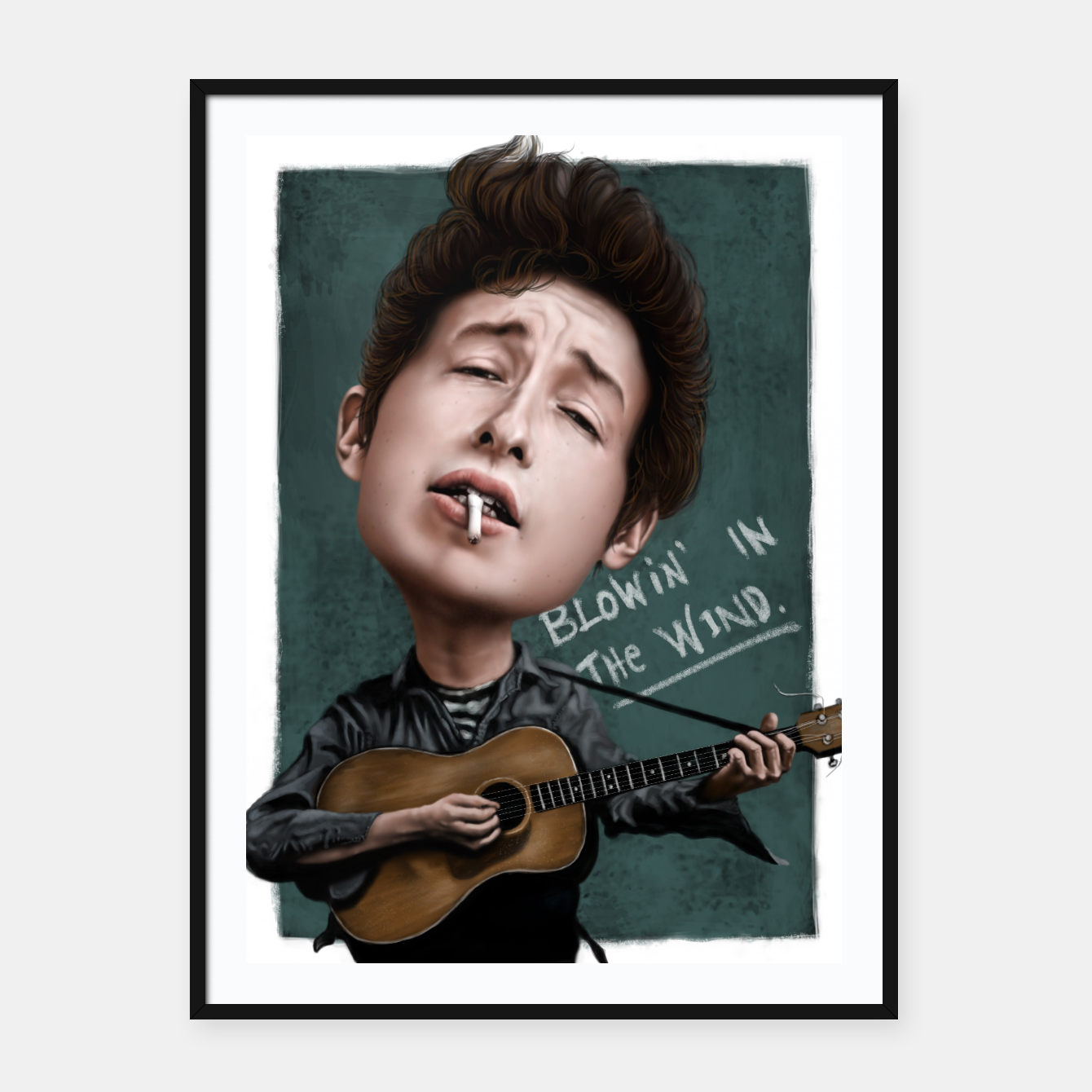 Image of Young Bob Dylan Framed poster - Live Heroes