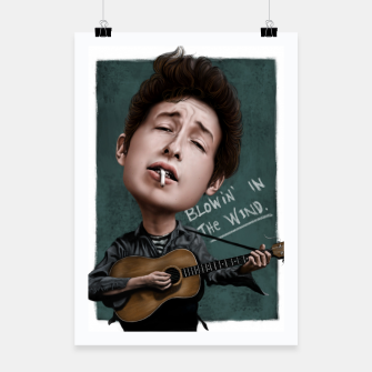 Thumbnail image of Young Bob Dylan Poster, Live Heroes