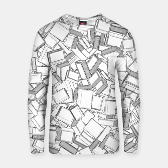 Thumbnail image of The Book Pile II Cotton sweater, Live Heroes