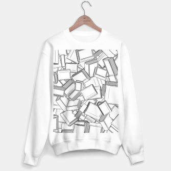 Thumbnail image of The Book Pile II Sweater regular, Live Heroes