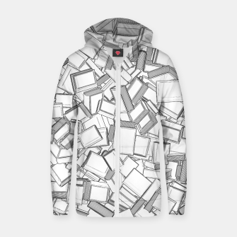 The Book Pile II Cotton zip up hoodie thumbnail image