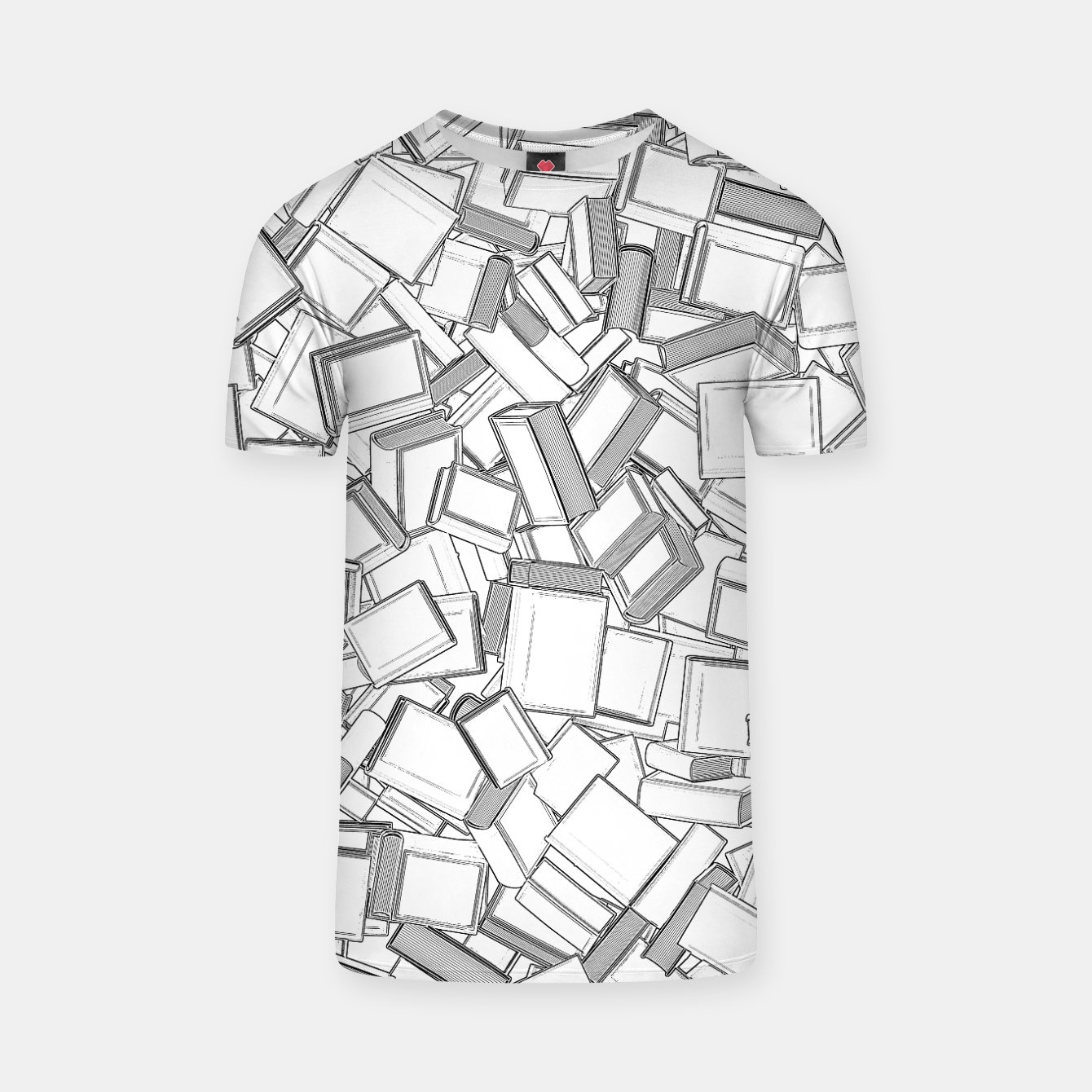 Image of The Book Pile II T-shirt - Live Heroes