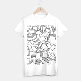 Thumbnail image of The Book Pile II T-shirt regular, Live Heroes