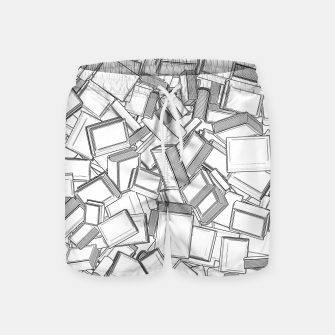 Thumbnail image of The Book Pile II Swim Shorts, Live Heroes