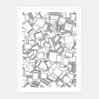 Thumbnail image of The Book Pile II Framed poster, Live Heroes