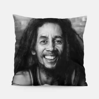 Thumbnail image of Bob Marley Pillow, Live Heroes
