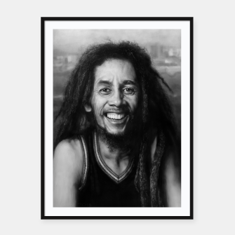 Thumbnail image of Bob Marley Framed poster, Live Heroes