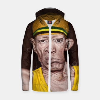 Thumbnail image of Yellowman Cotton zip up hoodie, Live Heroes