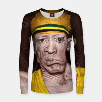 Thumbnail image of Yellowman Woman cotton sweater, Live Heroes