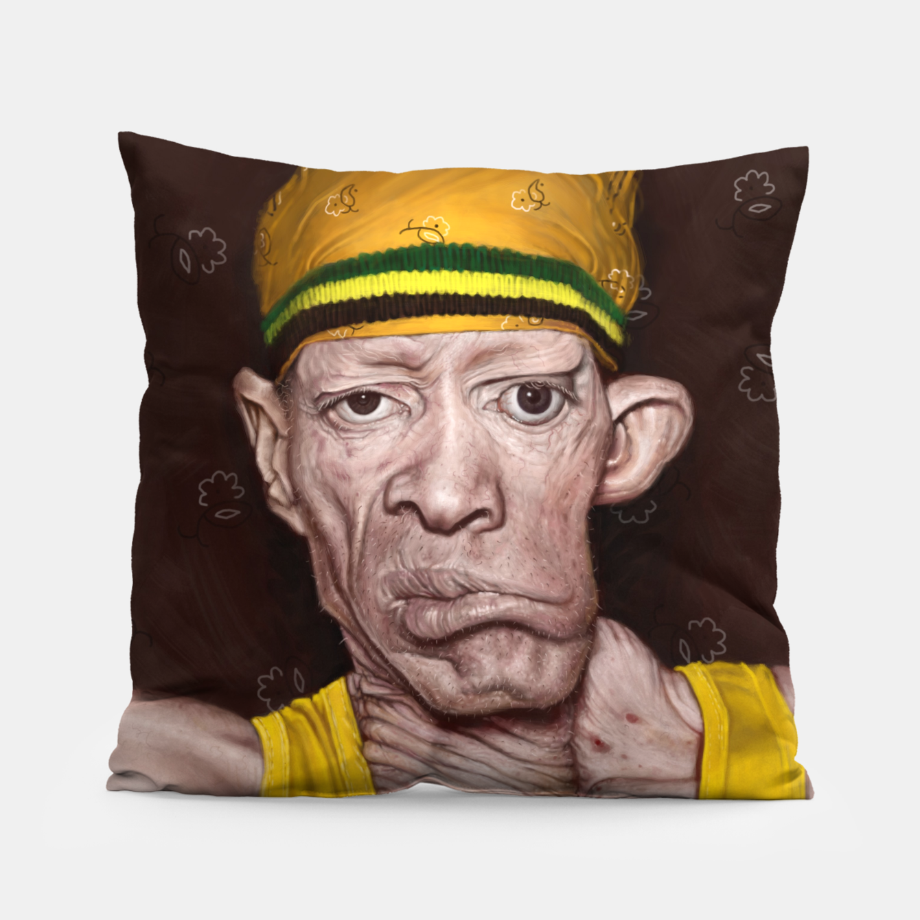 Image of Yellowman Pillow - Live Heroes