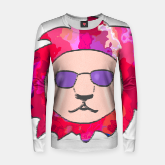 Thumbnail image of A Colourful Lion Head Woman cotton sweater, Live Heroes