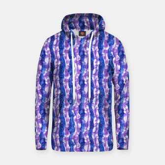 Thumbnail image of Seaweed Stripe (Blue, Violet & White) Cotton hoodie, Live Heroes