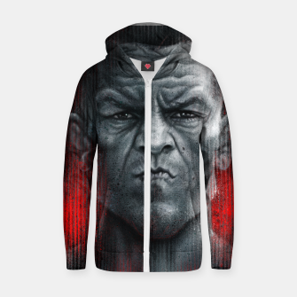 Thumbnail image of Nate Diaz Cotton zip up hoodie, Live Heroes