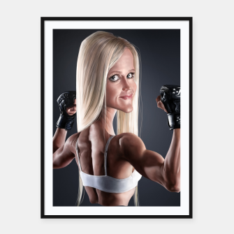 Thumbnail image of Holly Holm Framed poster, Live Heroes