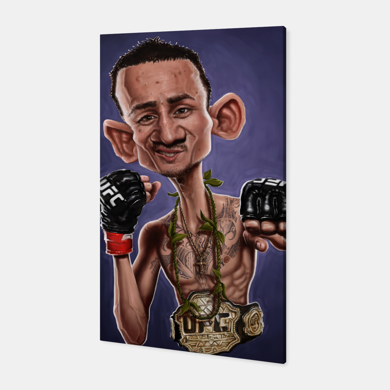 Image of Max Holloway Canvas - Live Heroes