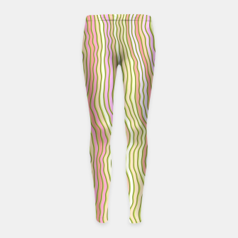 Miniaturka Colorful stripes Girl's leggings, Live Heroes