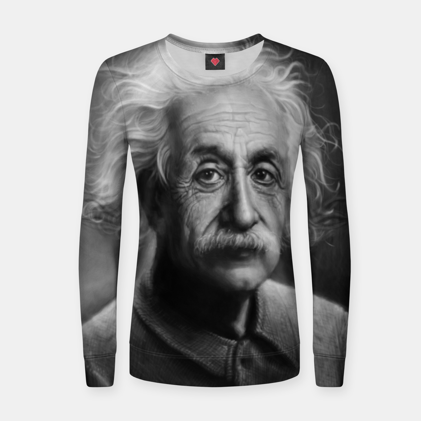 Image of Albert Einstein Woman cotton sweater - Live Heroes