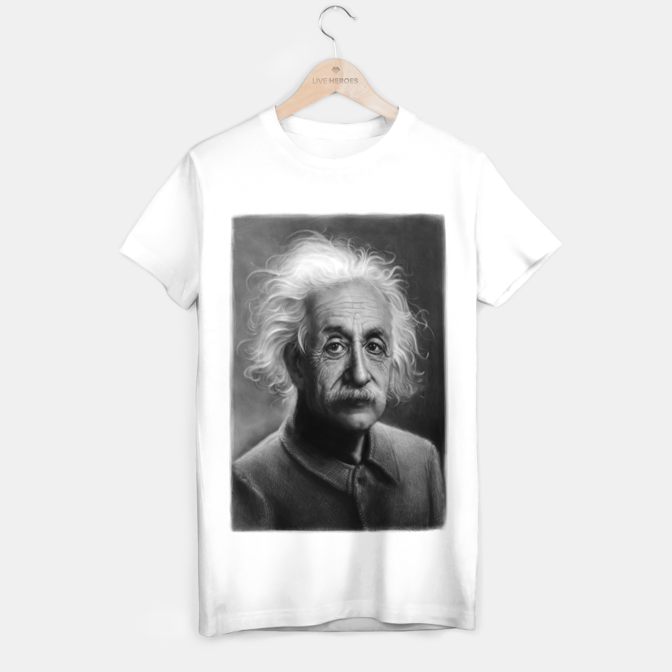 Image of Albert Einstein T-shirt regular - Live Heroes