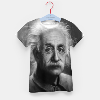 Thumbnail image of Albert Einstein Kid's t-shirt, Live Heroes