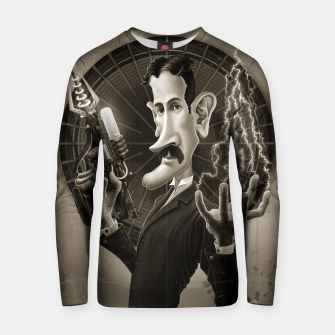 Thumbnail image of Nikola Tesla Cotton sweater, Live Heroes