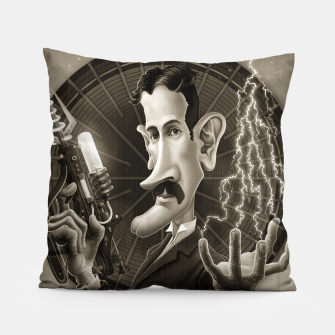 Thumbnail image of Nikola Tesla Pillow, Live Heroes