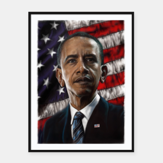 Thumbnail image of Barack Obama Framed poster, Live Heroes