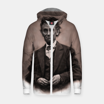 Thumbnail image of Abraham Lincoln Cotton zip up hoodie, Live Heroes