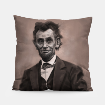 Thumbnail image of Abraham Lincoln Pillow, Live Heroes