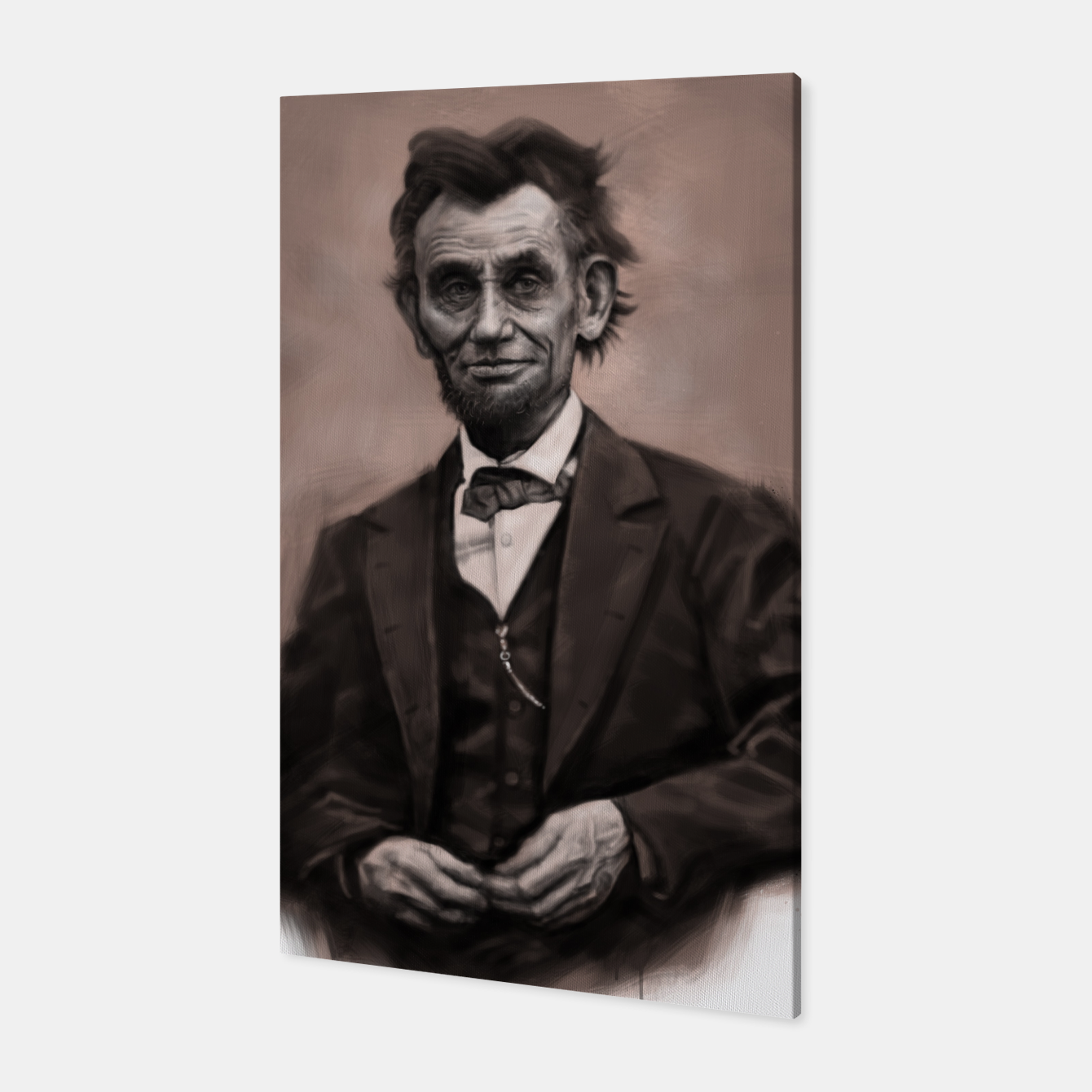 Image of Abraham Lincoln Canvas - Live Heroes