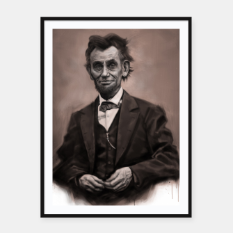 Thumbnail image of Abraham Lincoln Framed poster, Live Heroes