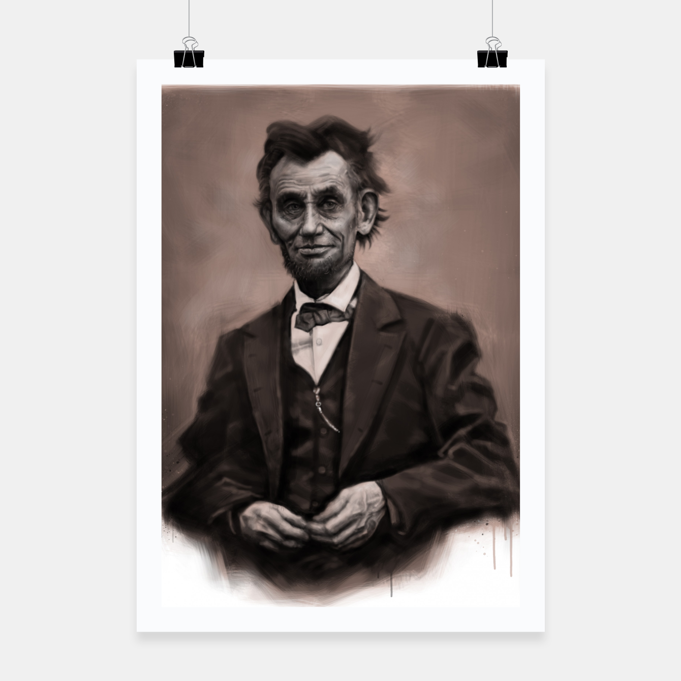 Image of Abraham Lincoln Poster - Live Heroes