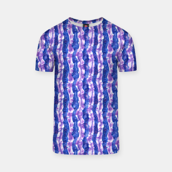 Thumbnail image of Seaweed Stripe (Blue, Violet & White) T-shirt, Live Heroes