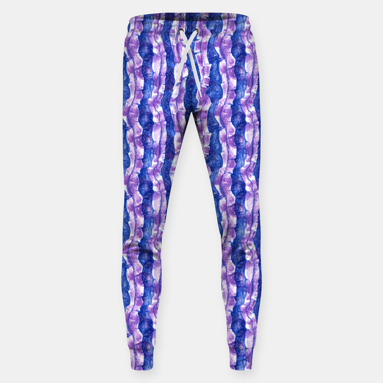 Image of Seaweed Stripe (Blue, Violet & White) Cotton sweatpants - Live Heroes