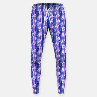 Thumbnail image of Seaweed Stripe (Blue, Violet & White) Cotton sweatpants, Live Heroes