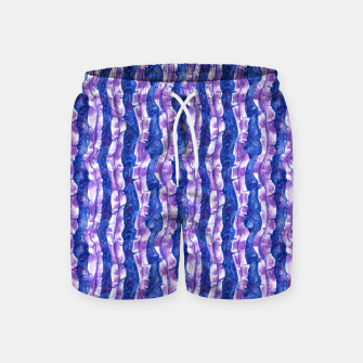 Thumbnail image of Seaweed Stripe (Blue, Violet & White) Swim Shorts, Live Heroes