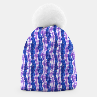 Thumbnail image of Seaweed Stripe (Blue, Violet & White) Beanie, Live Heroes