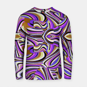 Groovy Retro Renewal - Purple Waves Cotton sweater thumbnail image