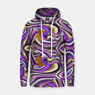 Groovy Retro Renewal - Purple Waves Cotton hoodie thumbnail image
