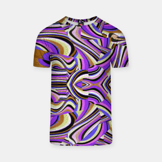 Groovy Retro Renewal - Purple Waves T-shirt thumbnail image