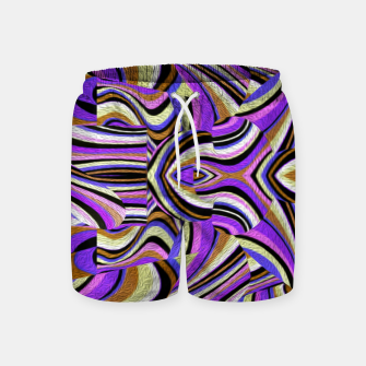 Groovy Retro Renewal - Purple Waves Swim Shorts thumbnail image